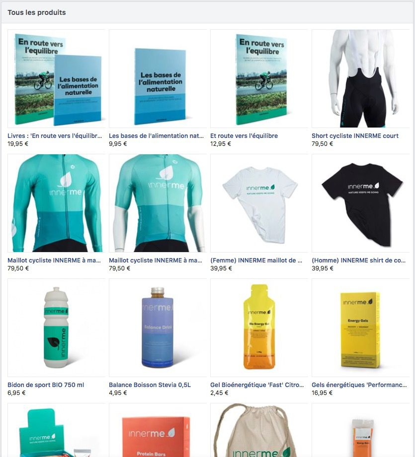 Innerme - Shop-page